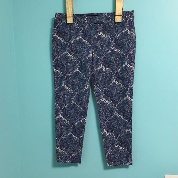 Talbots Pants - Talbots paisley ankle pants